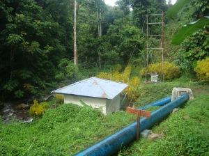 Pembangkit Listrik Tenaga Mikrohidro (PLTMH) Maninili, yang memanfaatkan aliran air dari hutan lindung