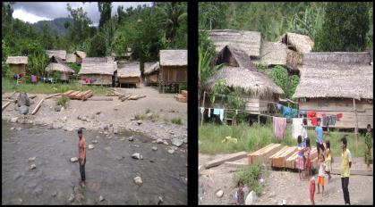 Salah satu pemukiman kelompok masyarakat di sekitar kawasan hutan yang dimanfaatkan oleh oknum untuk melakukan illegal logging