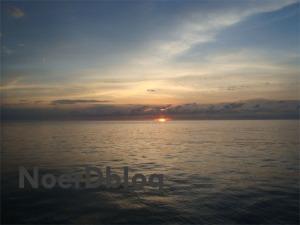 Pemandangan Sunset dari perairan Tanjung Api - Tojo Unauna - Sulawesi Tengah